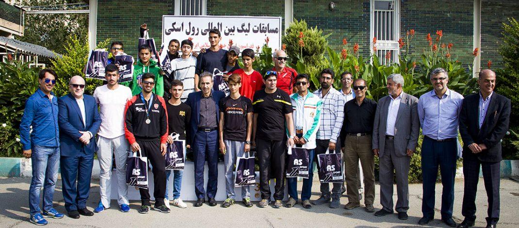 دانیال ساوه شمشکی قهرمان لیگ بین المللی رول اسکی در ورزشگاه تختی تهران